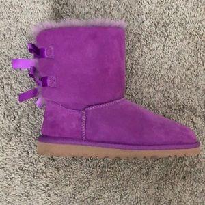 women s purple ugg boots with bows on poshmark rh poshmark com